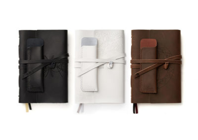 Product and package design: Sacred Lotus Love trio of leather journals